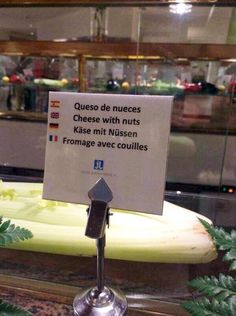 Lost in translation - Fromage-couilles-Traductions de merde