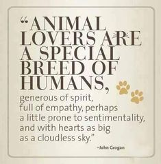 Animal Lovers Are A Special Breed Of Humans - John Grogan John Grogan, Think, Animal Quotes, Animal Rescue Quotes, Quotes About Animals, Puppy Quotes, Dog Lover Quotes, Animal Adoption, Thats The Way