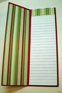 Splitcoaststampers - Junior Legal Pad Wishlist Project Tutorial by Nancy Riley