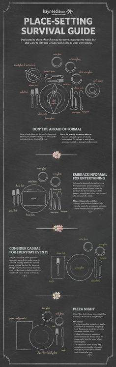 Place-setting Survival Guide on Behance