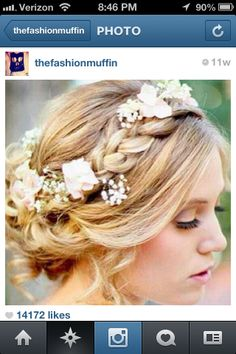 Prom hair, minus the flowers