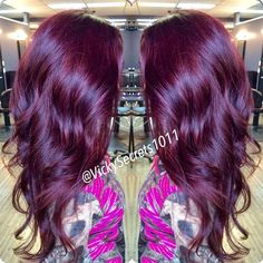 Rock your hair with deep purple color! Click on image for full gallery!