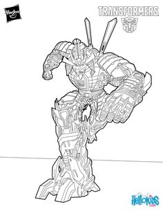 Blackout Transformer Coloring Page Cartoon Pinterest Kids