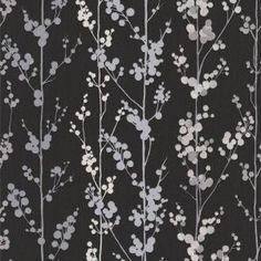 Shop Graham & Brown Graham & Brown Majestic Berries Wallpaper at Lowe's Canada. Find our selection of wallpaper at the lowest price guaranteed with price match. Black And Silver Wallpaper, Brown Wallpaper, Tile Wallpaper, Glitter Wallpaper, Pattern Wallpaper, Wallpaper Direct, Graham Brown, Diy Wall Art, Designer Wallpaper