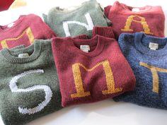 Custom Harry Potter House Sweaters made just for you - Your initial on a sweater - Monogram. $100.00, via Etsy.