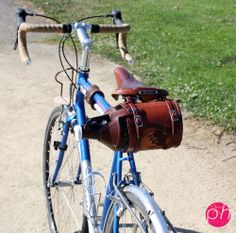 Custom Bike Mounted Leather Growler Cover/Holder - The Goods
