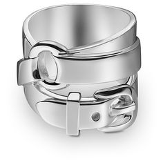Hermès Debridee Gm Ring In Silver (43,120 DOP) ❤ liked on Polyvore featuring jewelry, rings, accessories, bracelets, silver jewellery, silver jewelry and silver rings