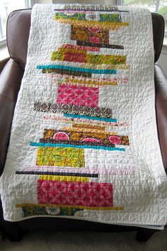 fun, mod quilt--maybe for a family room with different colors?
