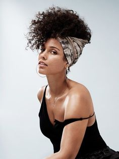 alicia key headwrap look