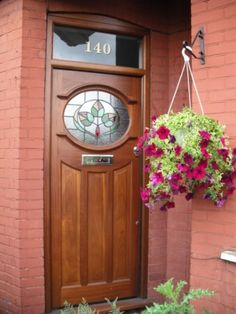 A Bespoke 1930s Door With Real Oval Leaded Glass | External Doors | 1920's And 1930's