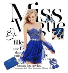 """""""Blue <3"""" by senadahadzic ❤ liked on Polyvore featuring CZ by Kenneth Jay Lane and MICHAEL Michael Kors"""