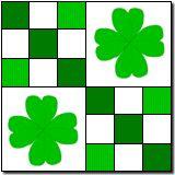 Four Leaf Clover- an idea for a barn quilt?