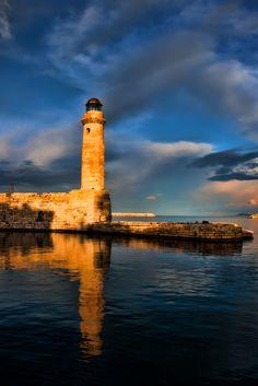 Rethimnon Lighthouse, Crete, Greece