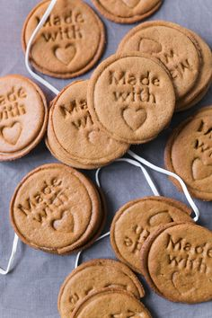 Stamped cookies for Christmas