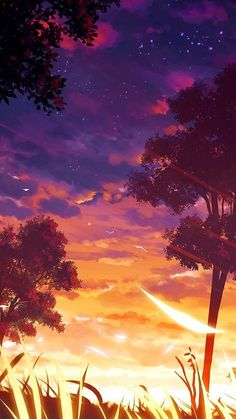 sunset wallpaper discovered by 🍃🌸 KURD 🌸🍃 on We Heart It Anime Scenery Wallpaper, Sunset Wallpaper, Landscape Wallpaper, Cute Wallpaper Backgrounds, Nike Wallpaper, Wallpaper Wallpapers, Screen Wallpaper, Iphone Wallpapers, Wallpaper Quotes