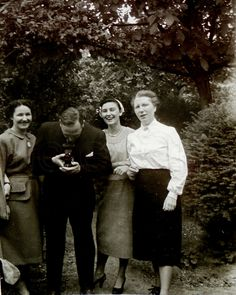 Vintage Photograph - Three Women & a Man with a Camera by ChicEtChoc on Etsy