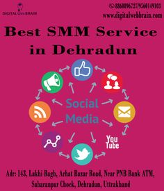Digital Web Brain offering a wide range of Best SMM Service in Dehradun Help You Connect with, Engage and Generate Leads through social media websites. Contact the best SMM / SMO Services Provider Company in Dehradun. Click here: http://bit.ly/2zNH0uS  #DigitalWebBrain #SMMCompanyinDehradun #BestSMMServiceinDehradun #SMMServiceProviderinDehradun #BestSMMCompanyinDehradun