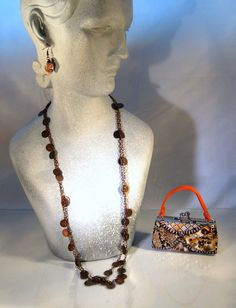 Antique Copper Coin Charm Chain Necklace by blingbychristine, $15.00