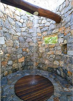 What if this weren't just a shower but an outdoor water feature that recycled water... hmmm yup! ...
