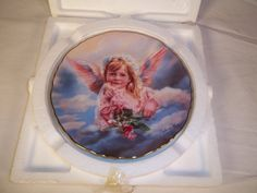 Angel of Grace Sandra Kuck Precious Angels Collection Reco Dish Plate 1995 #Reco