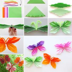 How Beautiful and Easy These Folded Paper Butterflies Are - http://www.amazinginteriordesign.com/beautiful-easy-folded-paper-butterflies/