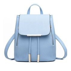 Fashion Elegant Fashion Girl School Travel Softback Pu Leather Vintage Backpack #Unbranded #Backpack