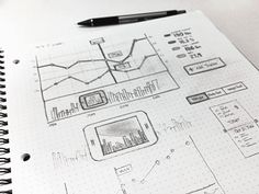 Dribbble - Sketching charts/graphs by Kerem Suer