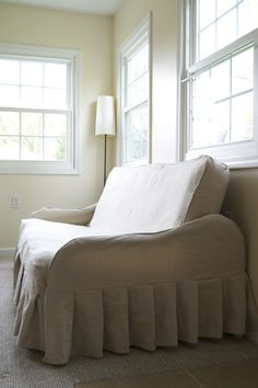 Instructions On How To Diy A Futon Slipcover Out Of Drop Cloths