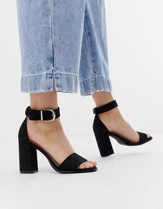 Discover a range of high heels with ASOS. Fromt black heels to bright silver, browse our range of classic peep toes, pumps or strappy sandals from ASOS. Black Block Heel Sandals, Platform Block Heels, Black Heels, High Heels, Heeled Sandals, Womens Boots On Sale, Boots Sale, Leather Brogues, Discount Clothing