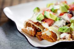 Jackfruit Enchiladas - although hesitant due to the jackfruit, we really liked this recipe! The all natural meat substitute didn't let me down. We decided next time we will do without the cream on top though and instead perhaps add a little cheese