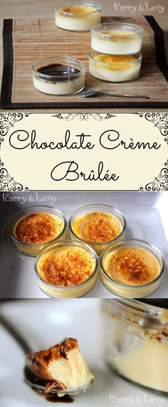 Quick and easy, this classic chocolate creme brulee recipe (or the so called burnt cream) is the perfect afternoon dessert or after-dinner treat.