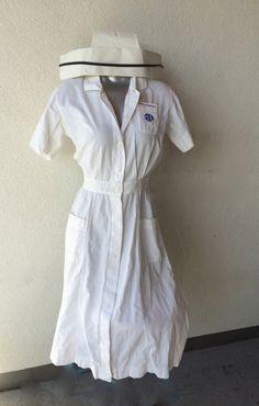 Vintage Nurse Uniform & Cap Great Retro Nurses by TizaVintage
