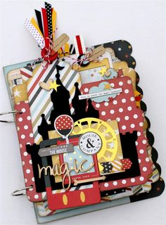 Magic Moments Mini Album-custom shaped album from Paisleys and Polka Dots.  Perfect for Disney photos. #simplestories #saycheese2