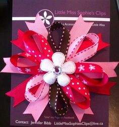 Pink Sweetie Loops Bow