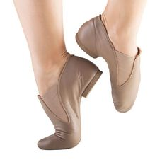 So Danca Slip-On Pre-Arched Leather Jazz Shoe features split sole and low cut boot with gores on sides. It also has soft leather upper and rubber sole. Jazz Shoes, Ballet Shoes, Dance Shoes, Leather Slip Ons, Tan Leather, Jazz Hip Hop, Dance Tights, Salsa Dancing, Learn To Dance