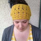 Chunky Lacy Reversible Crochet Headband - via @Craftsy