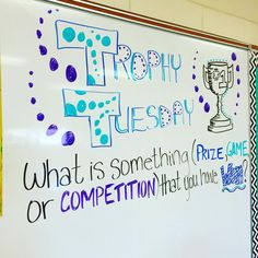 I'm excited for this one!! Nothing like letting kids talk about their successes to make a Tuesday great!