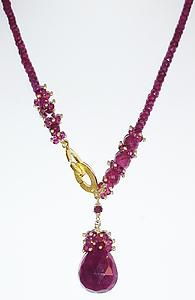 Ruby Signature Necklace: Judy Bliss: Gold & Stone Necklace | Artful Home
