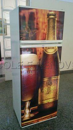 Envelopamento de Geladeira. Tema: Cerveja Bohemia. Entre em contato conosco e peça o seu. www.coleerenove.com.br Curta a nossa página: www.facebook.com/Coleerenove2013 Contato: 31 30197134 #decoração #adesivos #EnvelopamentoDeArmarios #EnvelopamentoDeMoveis #vinildecor #AdesivoParaBox #AdesivoParaPorta #EnvelopamentoDeGeladeiras #AdesivoDeParede