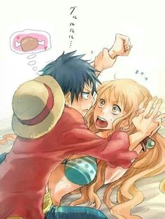 WOW What the hell is going on here Luffy & Nami from #OnePiece #Anime