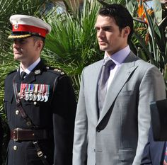 Henry Cavill and brother Lieutenant Colonel Nik Cavill at the Royal Marines 350th Anniversary Service in Gibraltar, Sunday, 26th October 2014. Photography by HCN. [1/3]