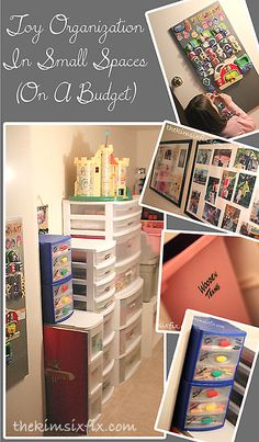 Toy Organization in Small Spaces (And on a Budget) via TheKimSixFix.com