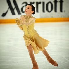 ✨Congratulations Layla!!! 2015 U.S National Champion - Solo Ice Dance for Silver Pattern and Novice Combined events✨Here in her winner gold American Waltz custom designed dress ✨🏆✨ #costumedesigner #lisamckinnon #skating #iceskating #icedance #dance #usfsa #nationalchampion #gold #dress #waltz #swarovski