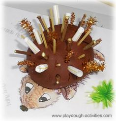 Prickly hedgehog play dough modelling and colouring activities Eyfs Activities, Playdough Activities, Color Activities, Preschool Activities, Hedgehog Nest, Hedgehog Craft, Autumn Activities For Kids, Summer Activities, Preschool At Home
