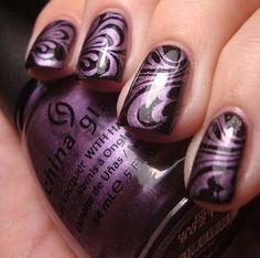 Purple & Black Swirls