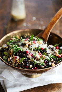 Pomegranate, Kale and Wild Rice Salad with Walnuts and Feta | 28 Delicious Things To Cook In February