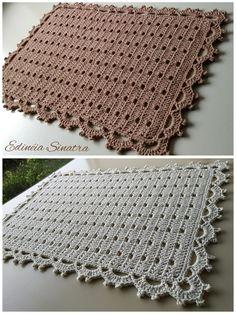 Videoaula no meu canal (Edinéia Sinatra Artesanatos) Link na BIO Tapete marrom claro confeccionado no fio 6 supremointense e tapete com barbante cru no fio 10 Usei os fios 💕💕💕💕 . Crochet Carpet, Wool Carpet, Crochet Home, Crochet Baby, Knit Crochet, Crochet Rug Patterns, Doily Patterns, Embroidery Patterns, Crochet Placemats
