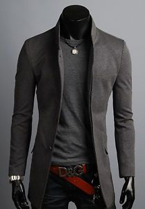 KOREAN-Mens-Slim-Fit-Premium-Button-Jacket-China-Collar-Long-Blazer-HD6-XS-S-M-L