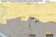 Euphrates Wrath operation map of Raqqah