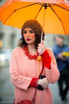 She's like a rainbow. Outside #Gucci #Streetstyle #MFW
